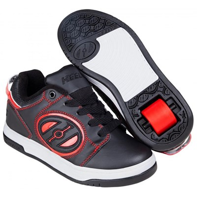 Voyager Black/Red Kids Heely Shoe