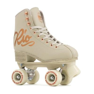 Rose Figure Quad Roller Skates - Cream