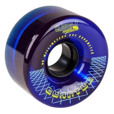 Quantum 62 - 62mm/80a Roller Skate Wheels - Clear Blue