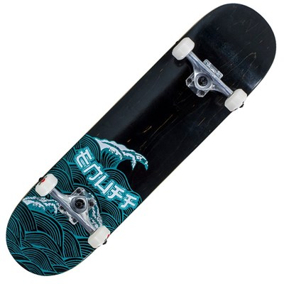 Big Wave Black 8inch Complete Skateboard