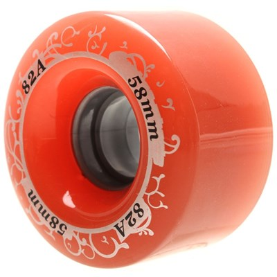 Gummy 58mm Rose Quad Roller Skate Wheels