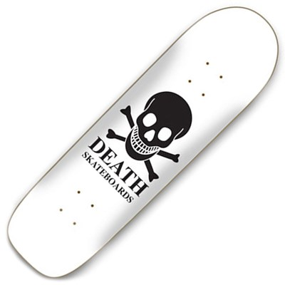 OG Skull White 8.75inch Pool Skateboard Deck
