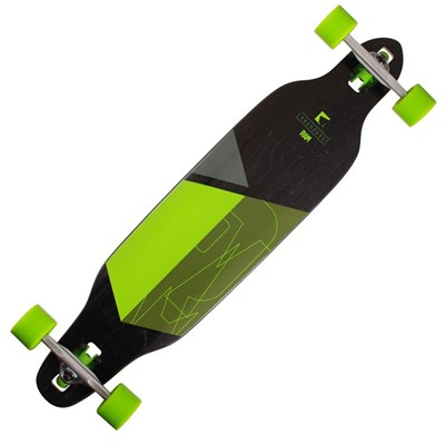 Solitary 2.0 Drop through Complete Longboard - Lime