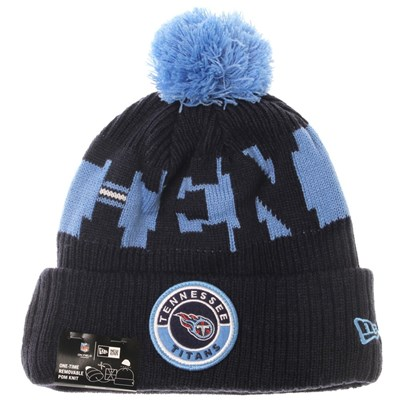 NFL Sideline Bobble Knit 2020 Home Game Beanie - Tennessee Titans
