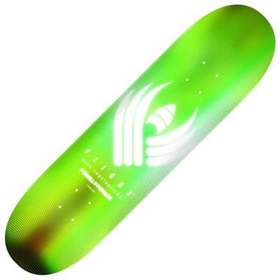 Peralta Glow Flight 8.75Inch Skateboard Deck - Lime