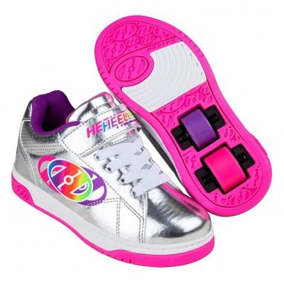 Swerve X2 Silver/Multi Rainbow Kids Heely X2 Shoe