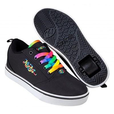 Pro 20 Black/Rainbow Cursive Kids Heely Shoe