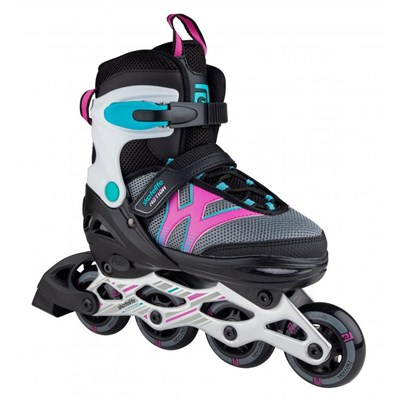 Motion Adjustable Kids Recreational Inline Skate - Black/Pink