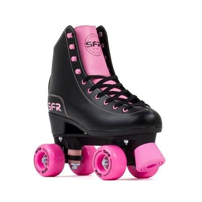 Figure Quad Roller Skates - Black/Pink