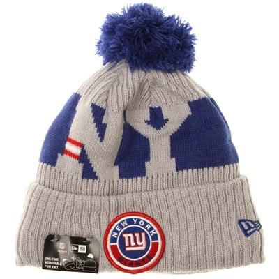 NFL Sideline Bobble Knit 2020 Reverse Beanie - New York Giants