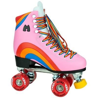 Rainbow Rider Quad Roller Skates - Bubble Gum Pink