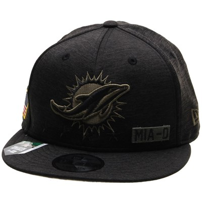 NFL On Field 2020 Salute To Service 950 Snapback - Miami Dolphins