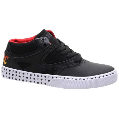 Kalis Vulc Mid AC/DC Black/White/Red Shoe
