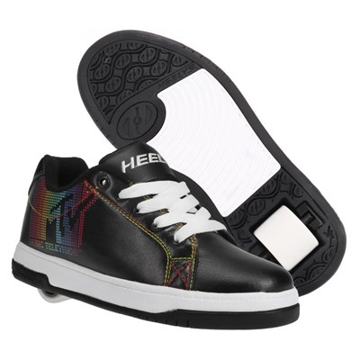 Split MTV Black/White/Rainbow Kids Heely Shoe