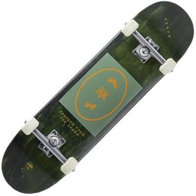 Recruit Whiskey 8 Multi Complete Skateboard - Black/Green