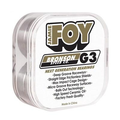 Jamie Foy Pro G3 White Bearings (8 Pack)