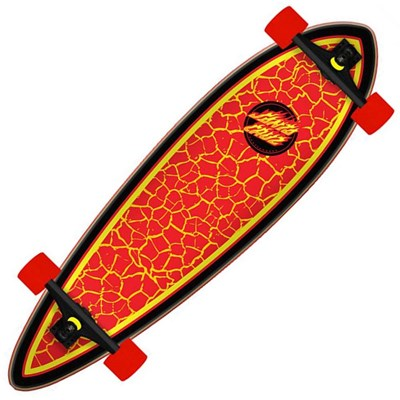 Flame Dot Pintail Complete Longboard Cruzer