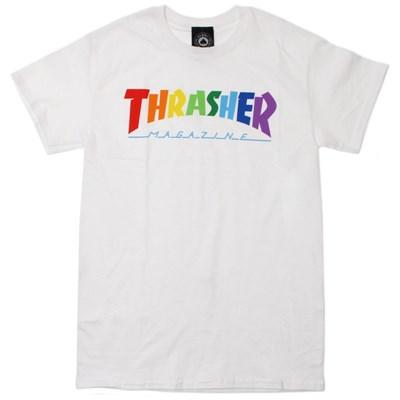 Rainbow Mag S/S T-Shirt - White