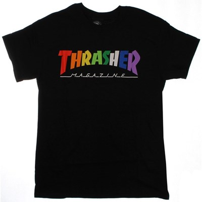 Rainbow Mag S/S T-Shirt - Black
