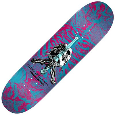 Peralta Skull & Sword #245 8.75inch Skateboard Deck - Pink