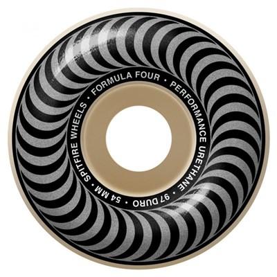 Formula Four Classics 97DU Natural 54MM Skateboard Wheels - Silver