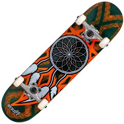 Dream Catcher Mini 7.25inch Complete Skateboard  - Teal/Orange