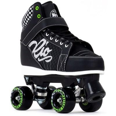 Mayhem II Black Quad Roller Skates