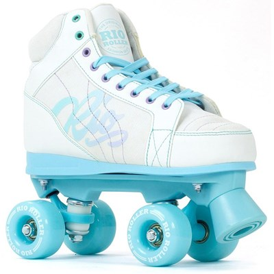 Pre Order Lumina Quad Roller Skates - White/Blue Due May