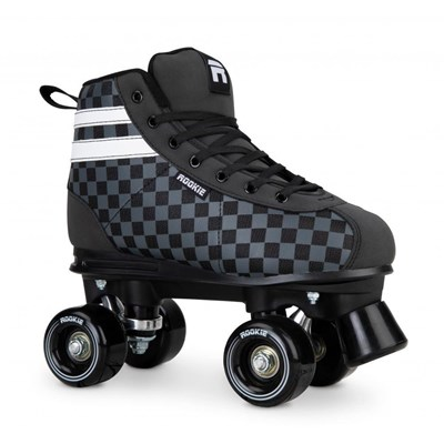 Magic Checker Quad Roller Skates - Black/White