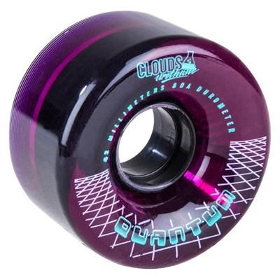 Quantum 62 - 62mm/80a Roller Skate Wheels - Clear Purple