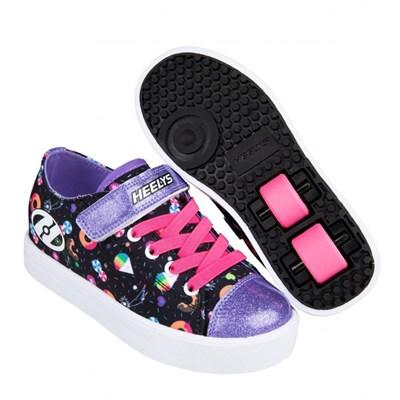 Snazzy Black/Rainbow/Sweets Kids Heely X2 Shoe