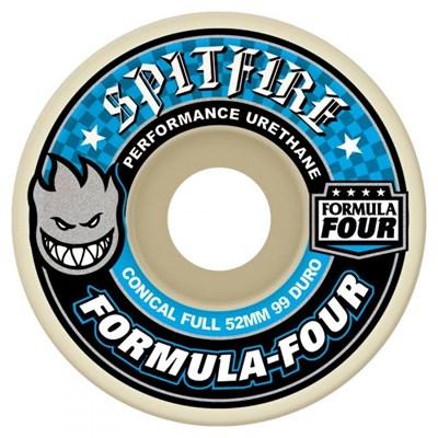 Formula Four Conical Full 99DU Natural 54MM Skateboard Wheels - Blue