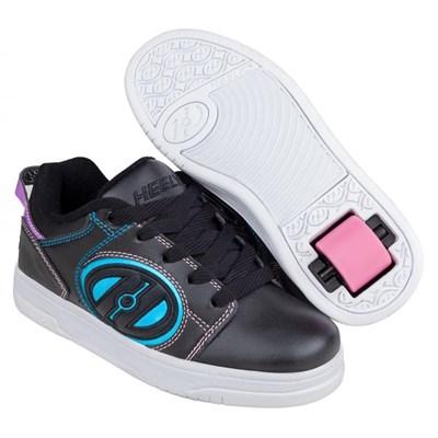 Voyager Black/Pink/Rainbow Foil Kids Heely Shoe