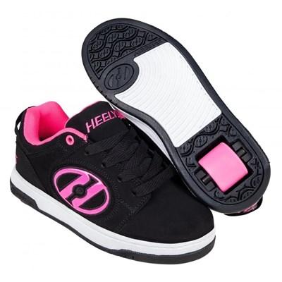 Voyager Black/Pink Kids Heely Shoe