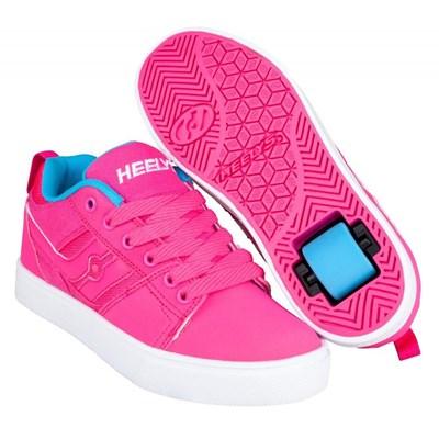 Racer 20 Hot Pink/Light Blue Kids Heely Shoe