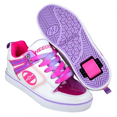 Motion 2.0 White/Pink/Lavender Heely Shoe