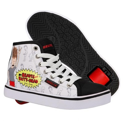Heelys X Beavis and Butthead Hustle White/Black Adults Heely Shoe