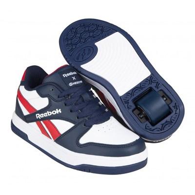 Heelys X Reebok BB4500 Low White/Vector Navy/Red Kids Heely Shoe