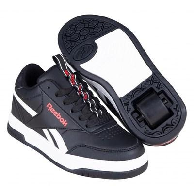 Heelys X Reebok CL Court Low Core Black/White/Vector Red Kids Heely Shoe