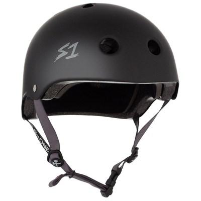 Lifer Helmet - Black Matt with Grey Strap