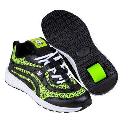 Nitro Black/Neon Yellow Kids Heely Shoe