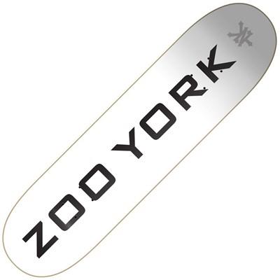 OG 95 Logo Block 7.75inch Skateboard Deck - White/Black/Grey