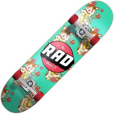 Lucky Cat Dude Crew 7.75inch  Complete Skateboard - Jade
