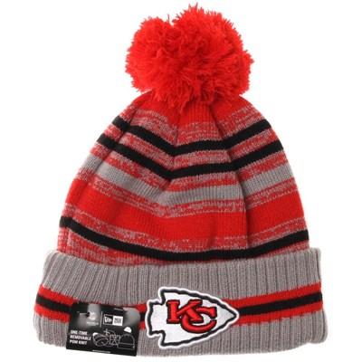 NFL Sideline Knit 2021 Grey Beanie - Kansas City Chiefs
