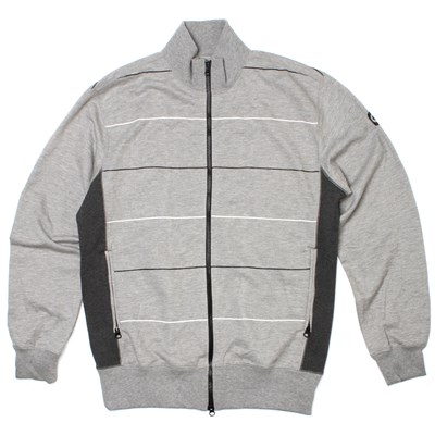 Rocky Printed Zip Up Crew - Heather Grey