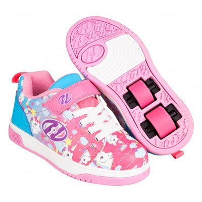Dual Up Neon Pink/Cyan/Purple Unicorn Kids Heely X2 Shoe