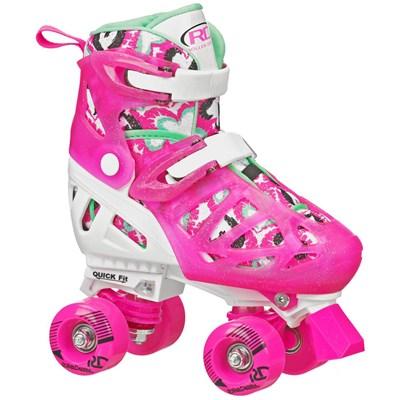 Trac Star V2 White/Pink Quad Roller Skates