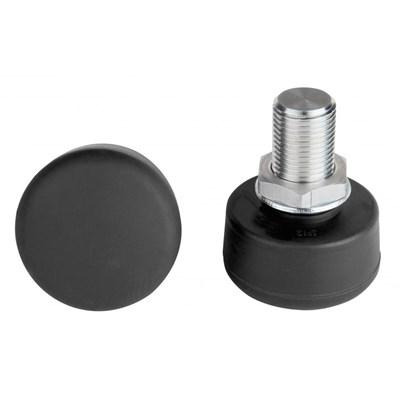 Adjustable Round Toe Stops - Black