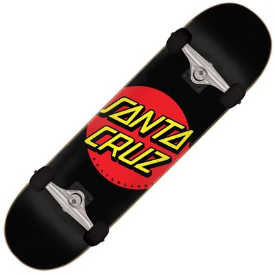 Classic Dot 8inch Multi Complete Skateboard - Black