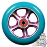 DDAM CFA 110mm Scooter Wheel Including Bearings - Purple/Turquoise